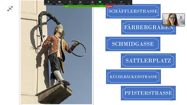 Virtuelle Sprichwort-Führung für das Kollegium der GMS Vaterstetten am Mittwoch, 10.02.2021