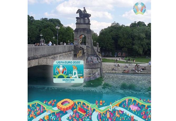 Virtuelle Stadtführung durch die Sportstadt München für die Volunteers der UEFA EURO 2020 am Donnerstag, 25.02.2021