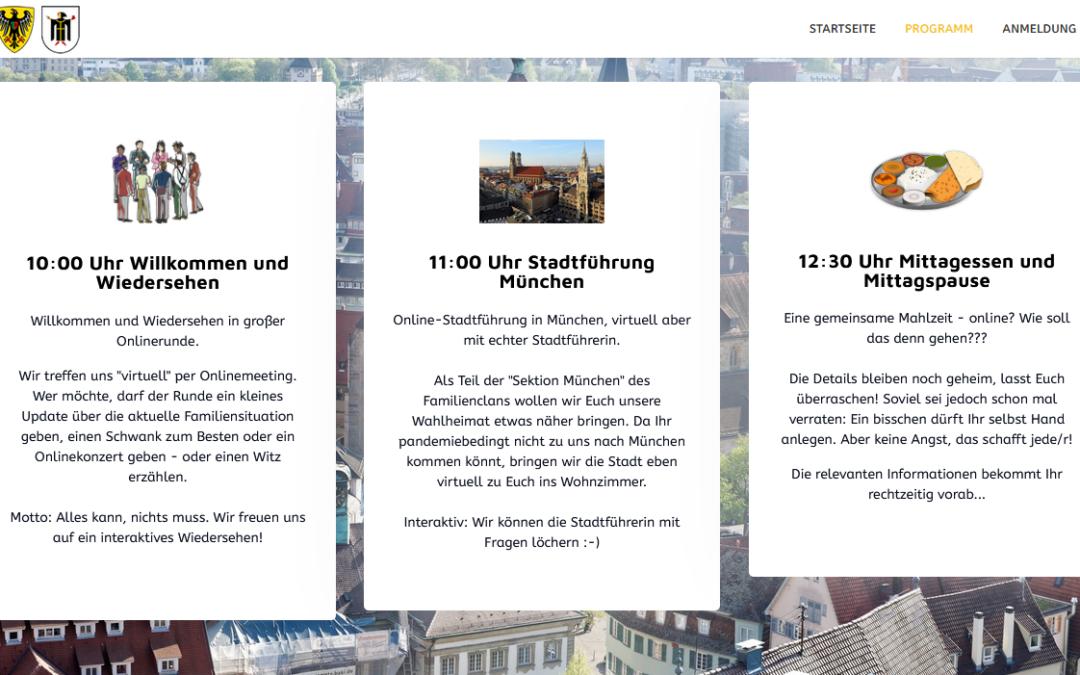Digitales Familientreffen mit virtueller Stadtführung am 08.05.21